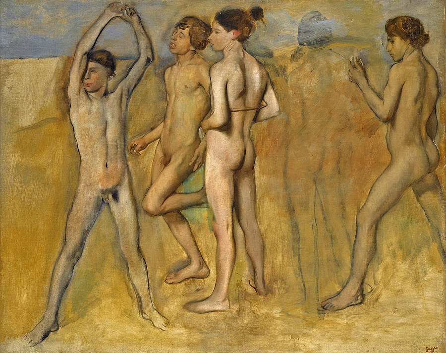 Boys and girls nude in art