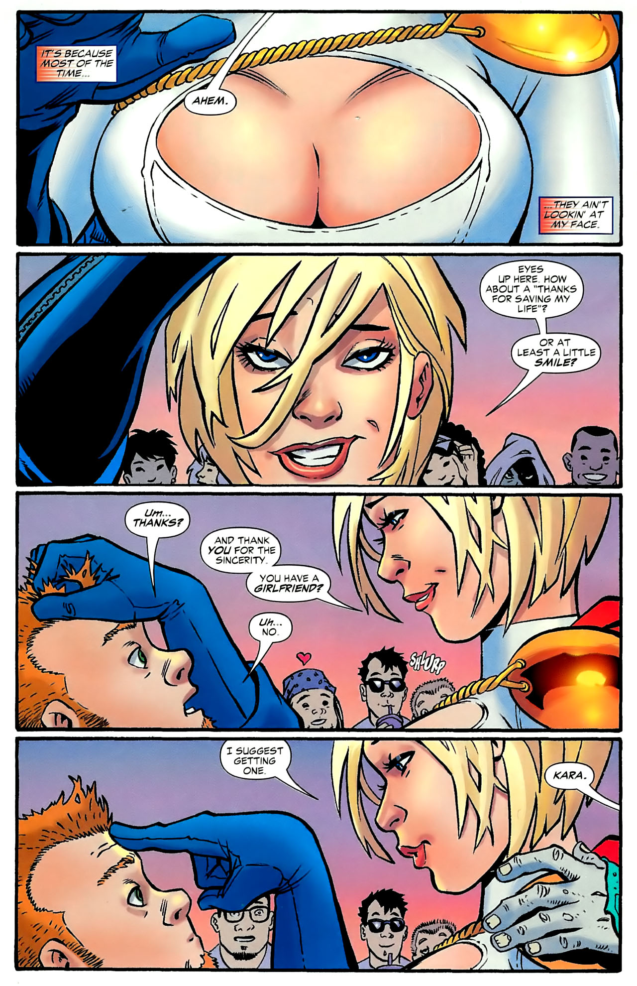 Sexy pitchers of power girl naked