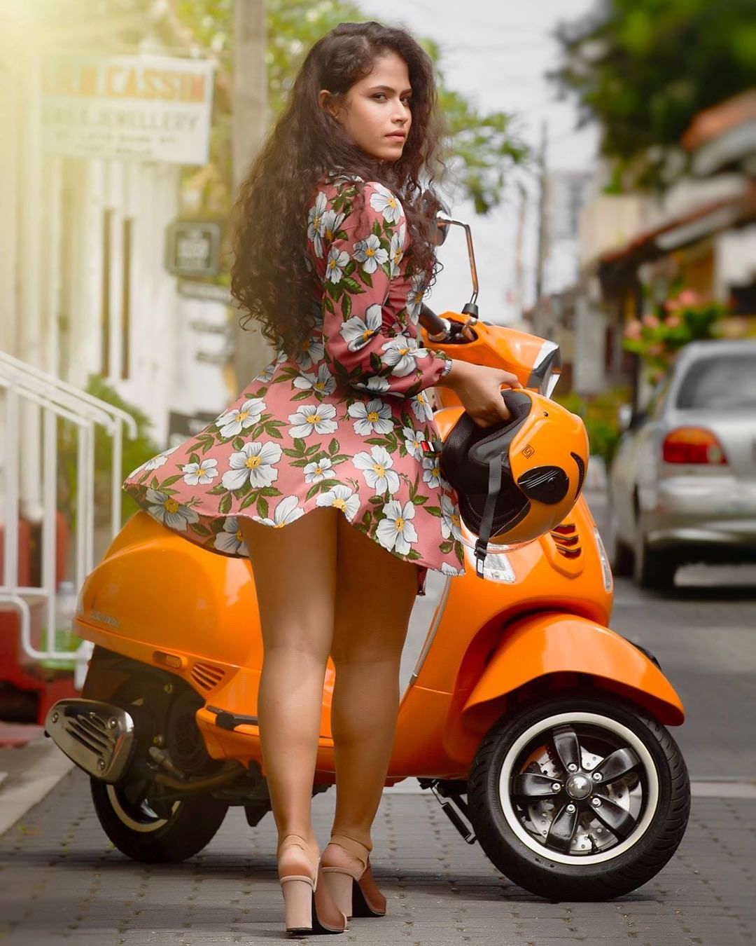 Booty girl on scooter