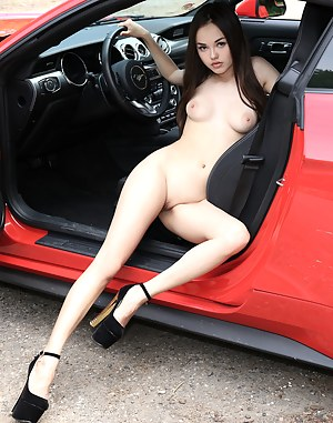 Cars with girl naked