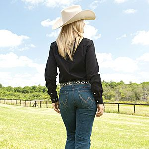 Country girl blue jean butt
