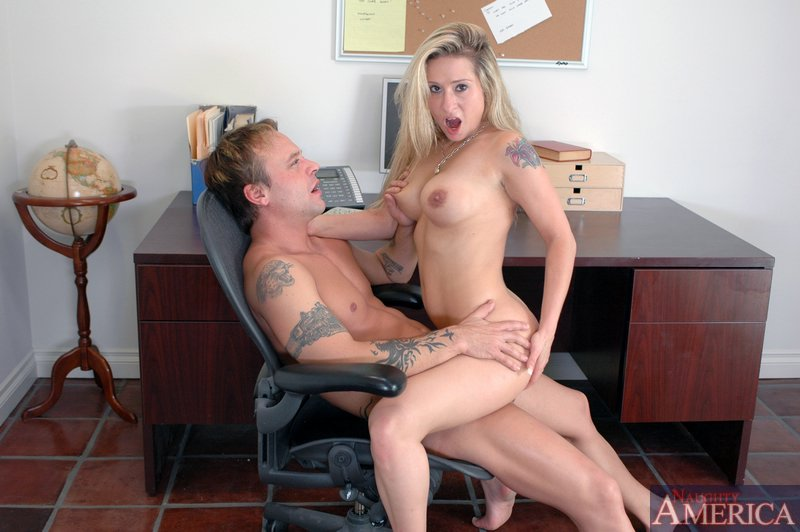 Sexy males naked having sex in a office